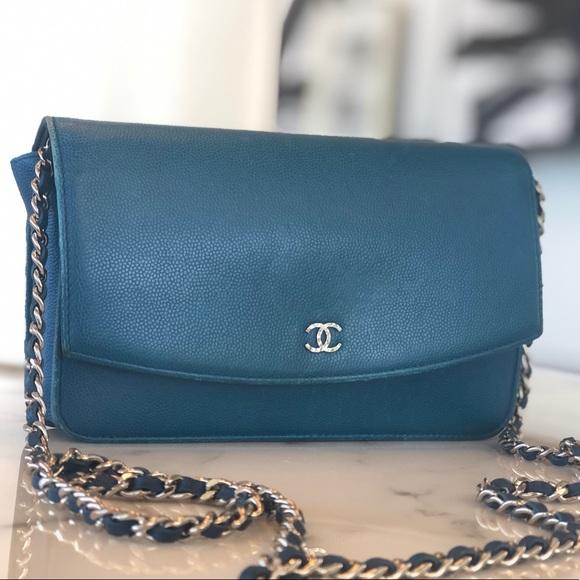 1271f5c35d7e CHANEL Bags | Caviar Wallet On Chain | Poshmark
